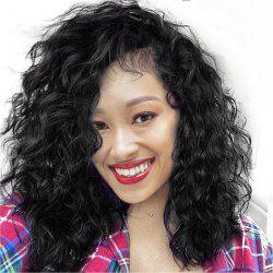 Long Side Parting Fluffy Water Wave Lace Front Synthetic Wig -