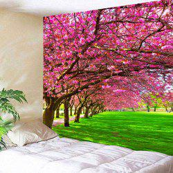Wall Hanging Flower and Grass Print Tapestry - W59 Inch * L51 Inch