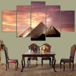 Unframed Artistic Sunset Pyramid Pattern Wall Decor Canvas Paintings -