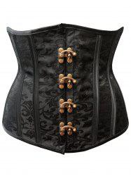 Steel Boned Strapless Waist Training Corset -