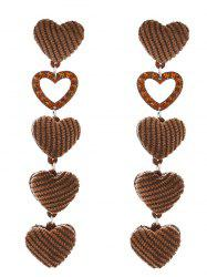 Adorable Heart Drop Earrings -