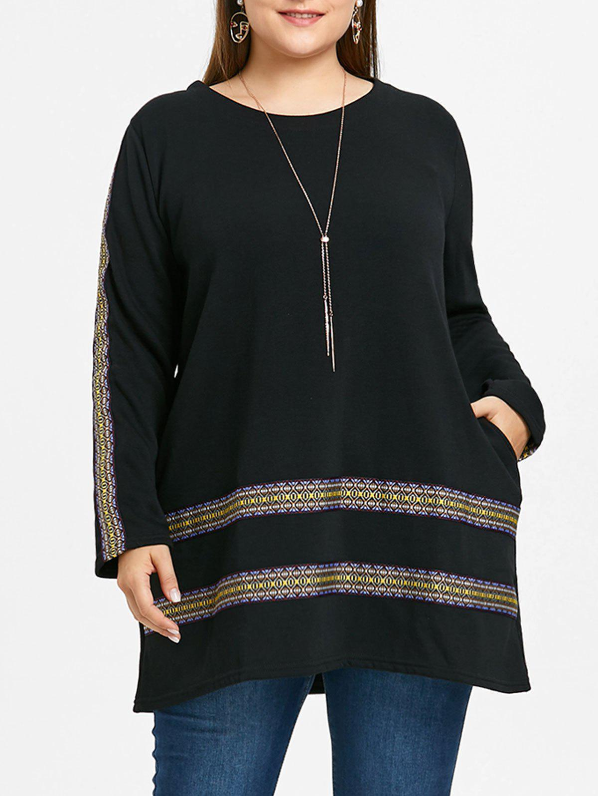 Outfit Plus Size Print Insert Tunic Top