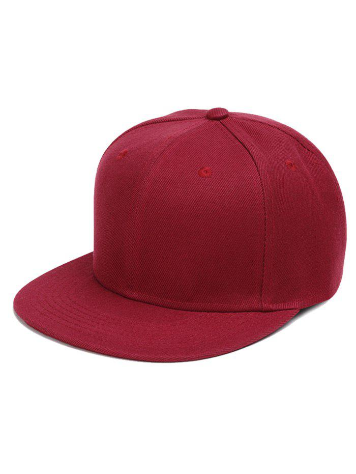 Unique Outdoor Line Embroidered Flat Brim Baseball Hat