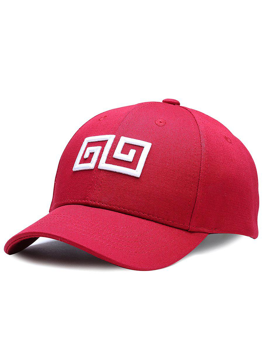 Online Outdoor Geometric Pattern Embroidery Adjustable Baseball Hat