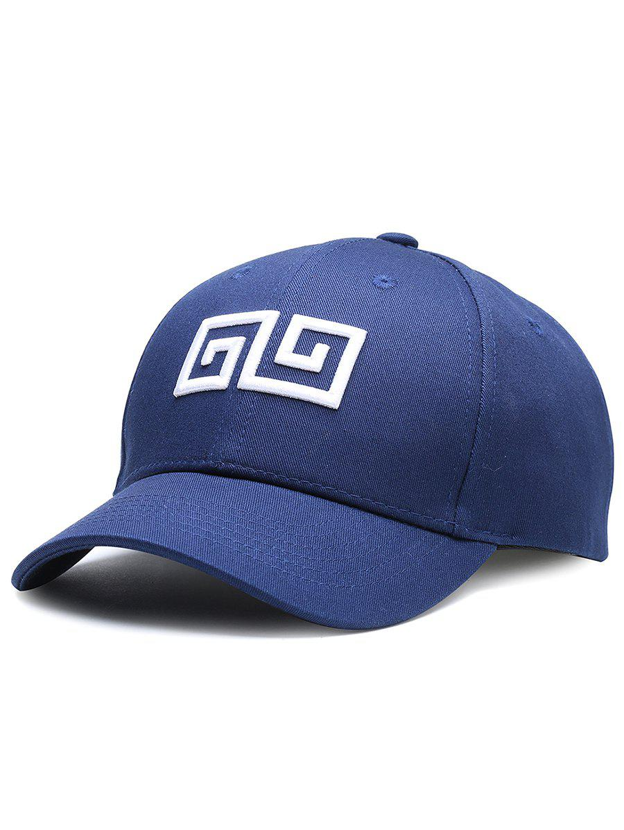 Fashion Outdoor Geometric Pattern Embroidery Adjustable Baseball Hat