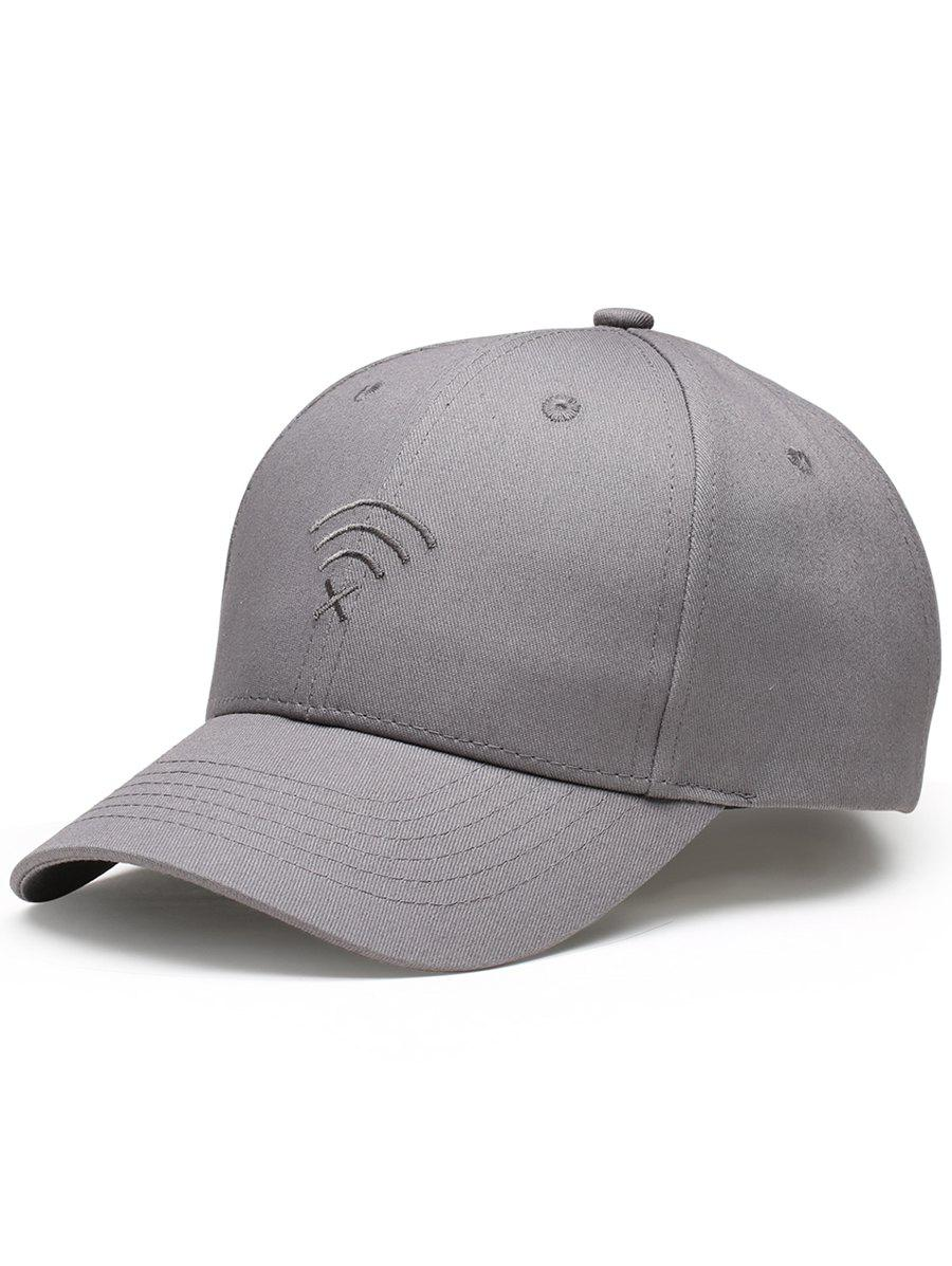 Hot WIFI No Signal Embroidery Decoration Sunscreen Hat
