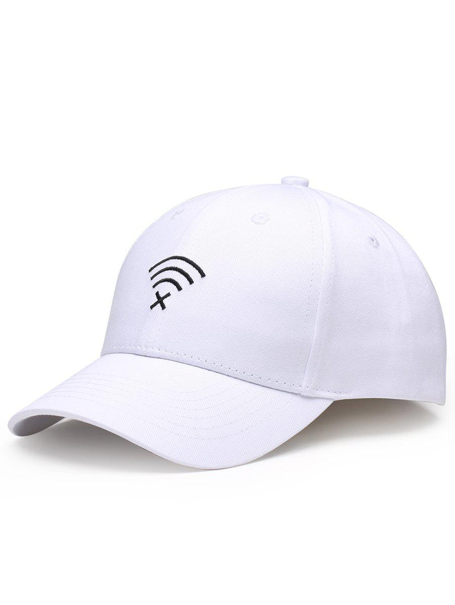 Shops WIFI No Signal Embroidery Decoration Sunscreen Hat