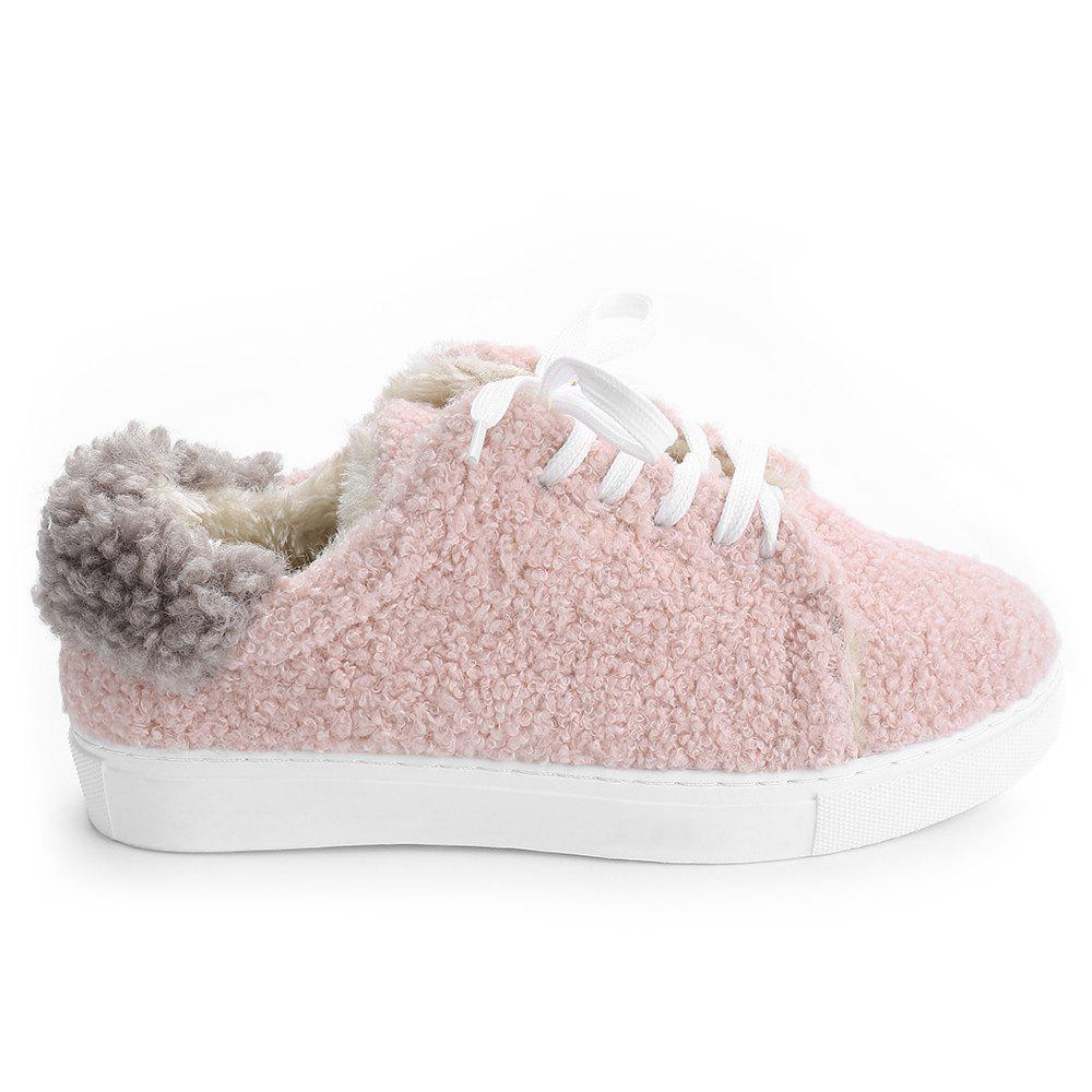 Outfits Low Heel  Faux Fur Skate Shoes
