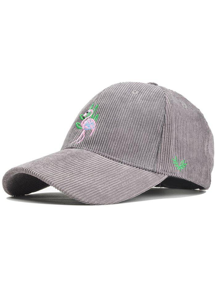 Best Phoenix Bird Embroidery Adjustable Corduroy Baseball Hat