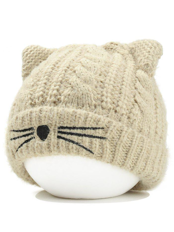 f05d60a2f02 Unique Cute Kitty Ear Embellished Crochet Knitted Beanie