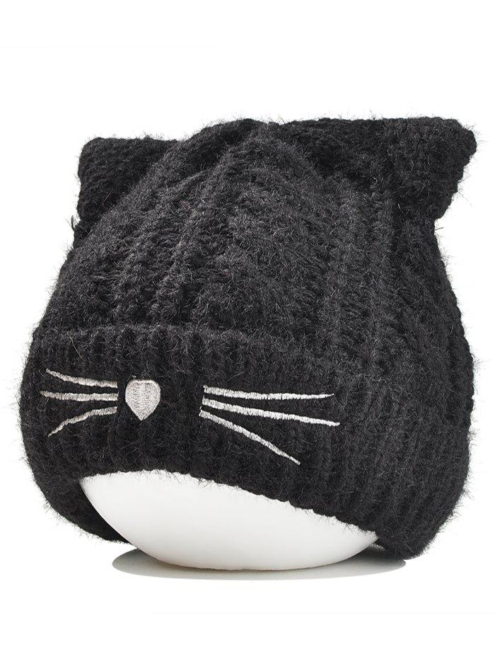 Fashion Cute Kitty Ear Embellished Crochet Knitted Beanie