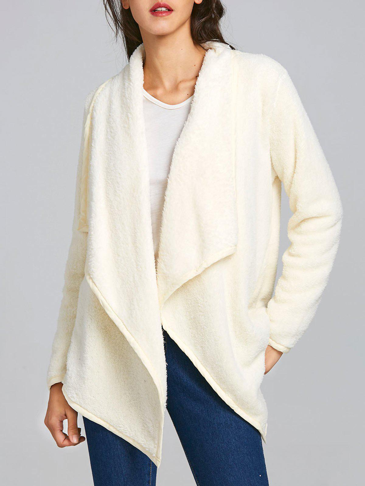 Outfit Furry Drape Front Jacket