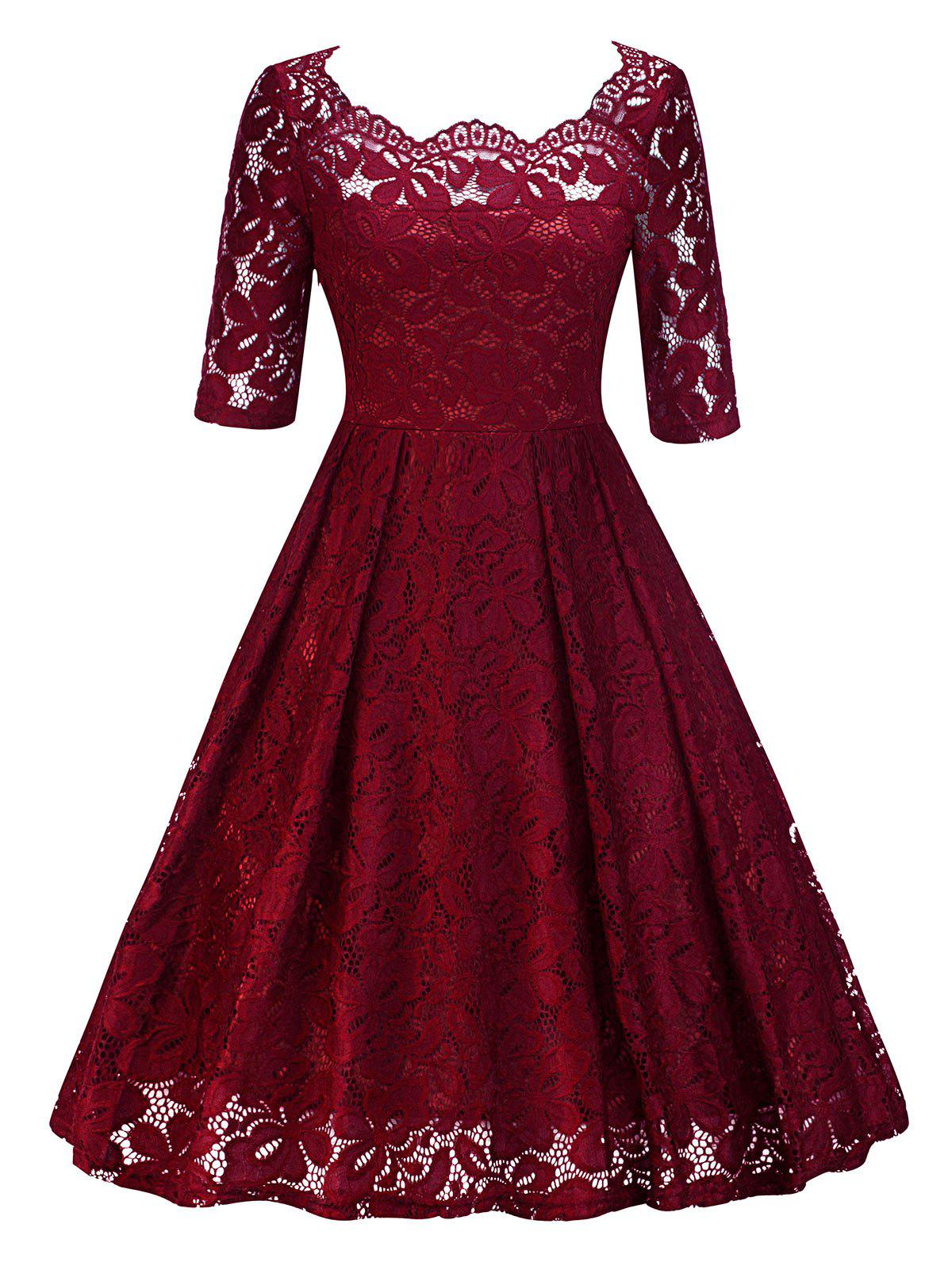 Cheap Vintage Lace Party Pin Up Dress