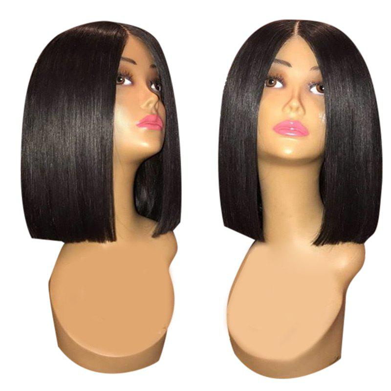 Outfits Center Parting Medium Straight Blunt Synthetic Wig