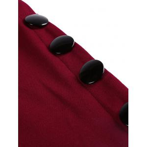 Side Button Up Maxi Fitted Skirt -