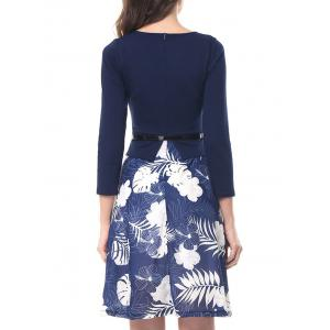 Print Flare Knee Length Dress -