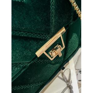 Chain Stitching Quilted Crossbody Bag -