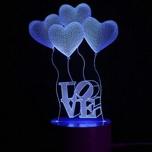 Mothers Day Valentine Heart Ballon Love Confession Gifts Night Lamp -
