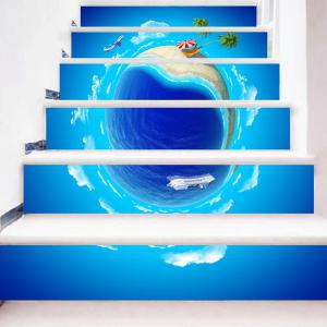 Summer Holidays 3D Planet Printed Stair Stickers -