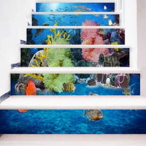 Sea World Print 3D Stair Decals -
