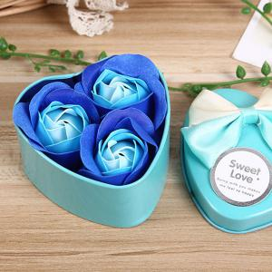 3Pcs Confessions of Love Artificial Roses With Iron Box -