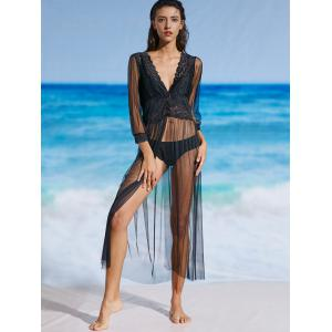 See Through Mesh Lace Cover Up Dress -