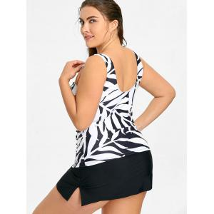 Plus Size Tankini Top and Skirt Swimwear -