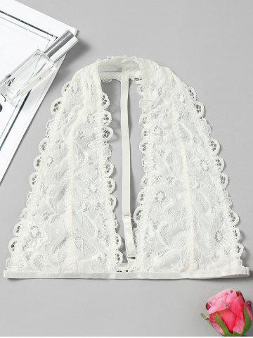 Affordable Scalloped Trim Lace Bralette Top