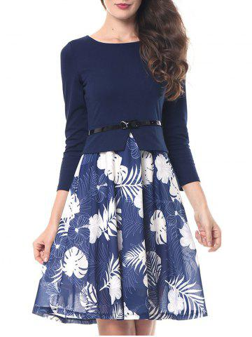 Buy Print Flare Knee Length Dress