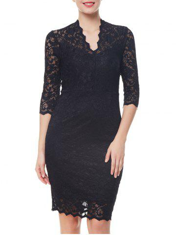 Sale Formal V-neck Sheath Lace Dress