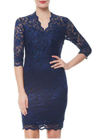 Outfit Formal V-neck Sheath Lace Dress