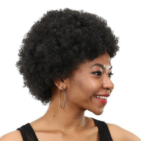 Perruque Synthétique Courte Inclinée Bang Shaggy Afro Curly