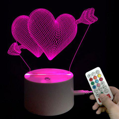 Valentine s Day Heart Arrow Night Light with Remote Control Birthday Gift