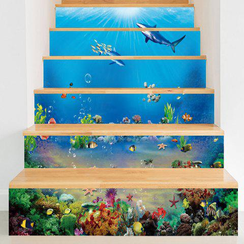 Affordable Sea World Dolphins Patterned Stair Stickers