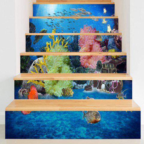 Latest Sea World Print 3D Stair Decals