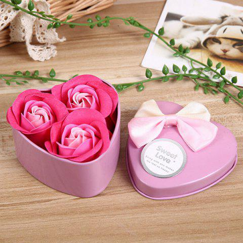 Online 3Pcs Valentine Gift Confessions of Love Artificial Roses With Iron Box