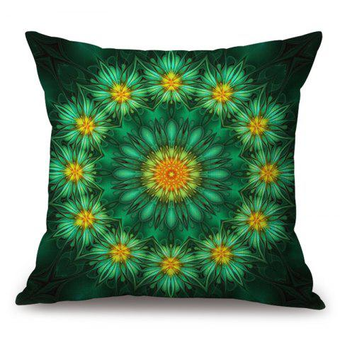 Sale Flowers Pattern Decorative Cotton Linen Throw Pillow Case