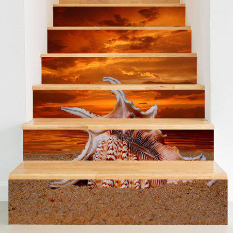 Outfits Sea Conch and Sunset Glow Pattern Stair Riser Stickers