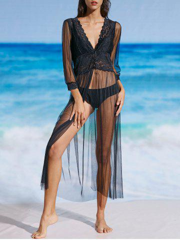 Outfits See Through Mesh Lace Cover Up Dress
