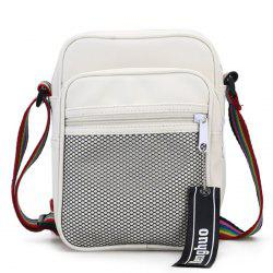 Letter Multi Function Crossbody Bag With Mesh -