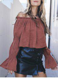 Off The Shoulder Flare Sleeve Shirt -