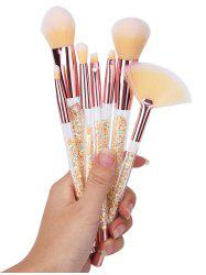 Paillettes Handle Ombre Hair 7Pcs Makeup Brushes Set -