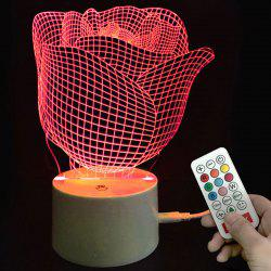 Valentine Rose Pattern Color-changing Love Confession Gift Remote Control Night Light -