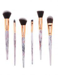 Tree Resin Printed Handle 6Pcs Professional Cosmetic Brushes Set -