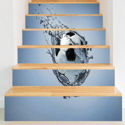 Novelty Football Printed Sport Stair Stickers -