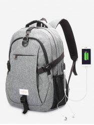 USB Charging Port Backpack With Headphone Jack -
