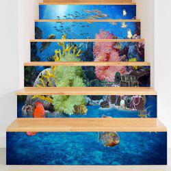 Décalques d'escalier 3D Sea World Print -