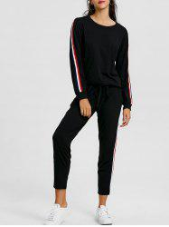 Sweat-shirt avec Pantalon à Rayures -