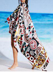 Rectangle Printed Beach Cover Throw -
