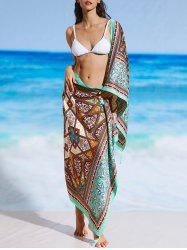 Ethnic Print Vintage Sunbath Beach Throw -